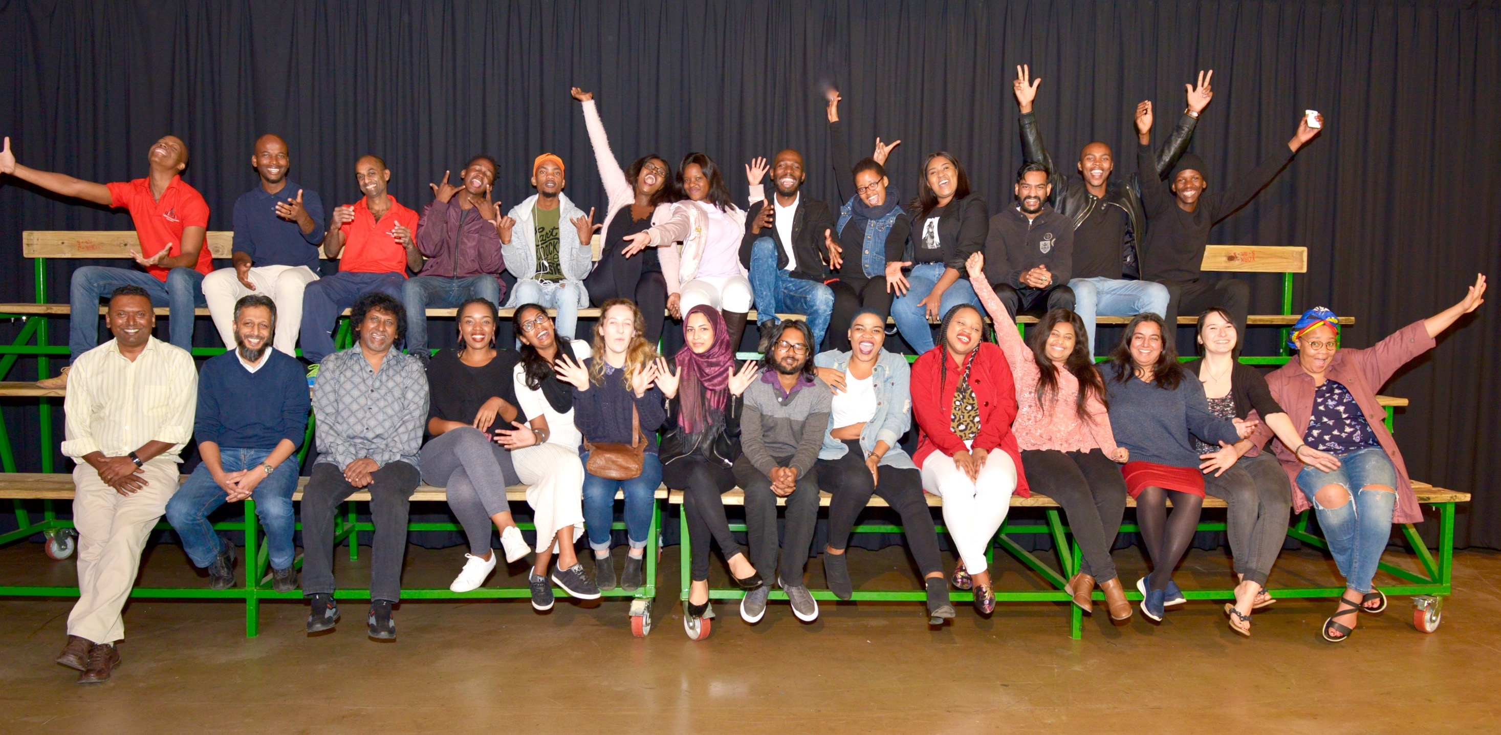 Media students seen with UKZN staff during their short film screenings.