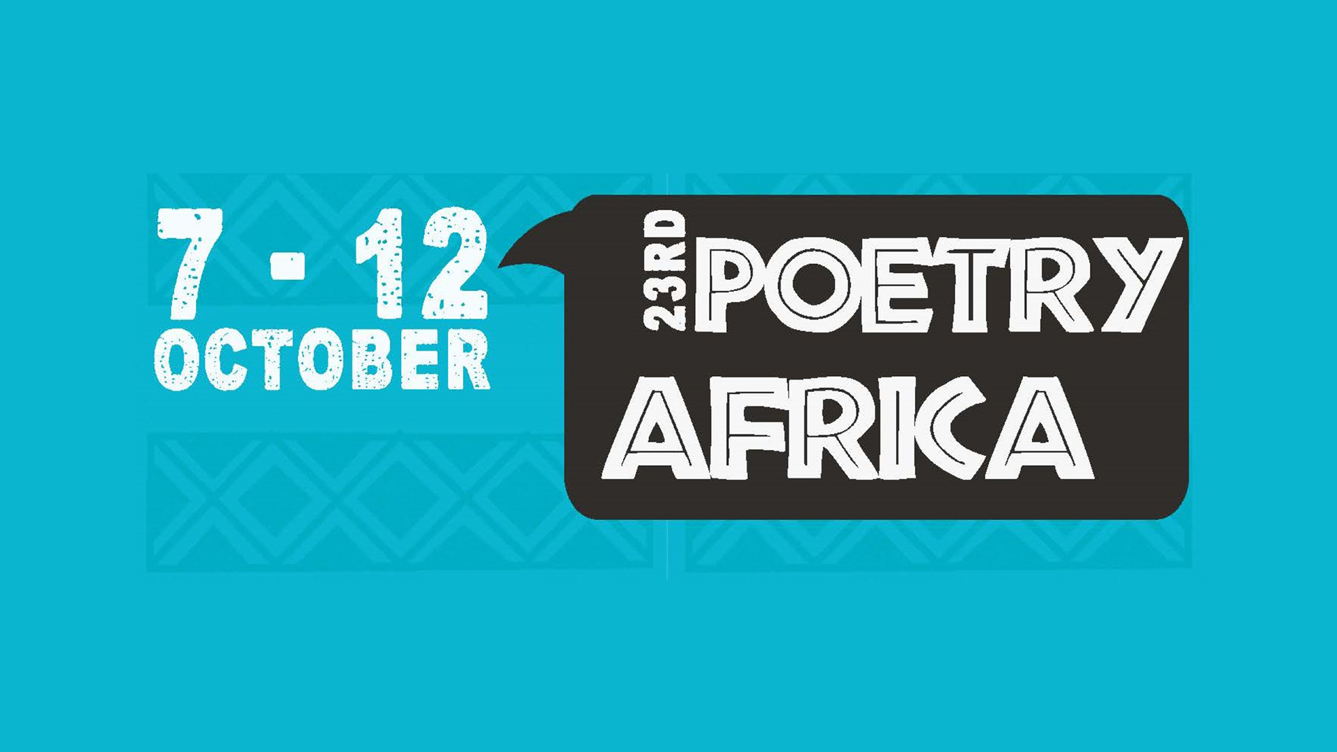 The 23rd edition of the Poetry Africa festival